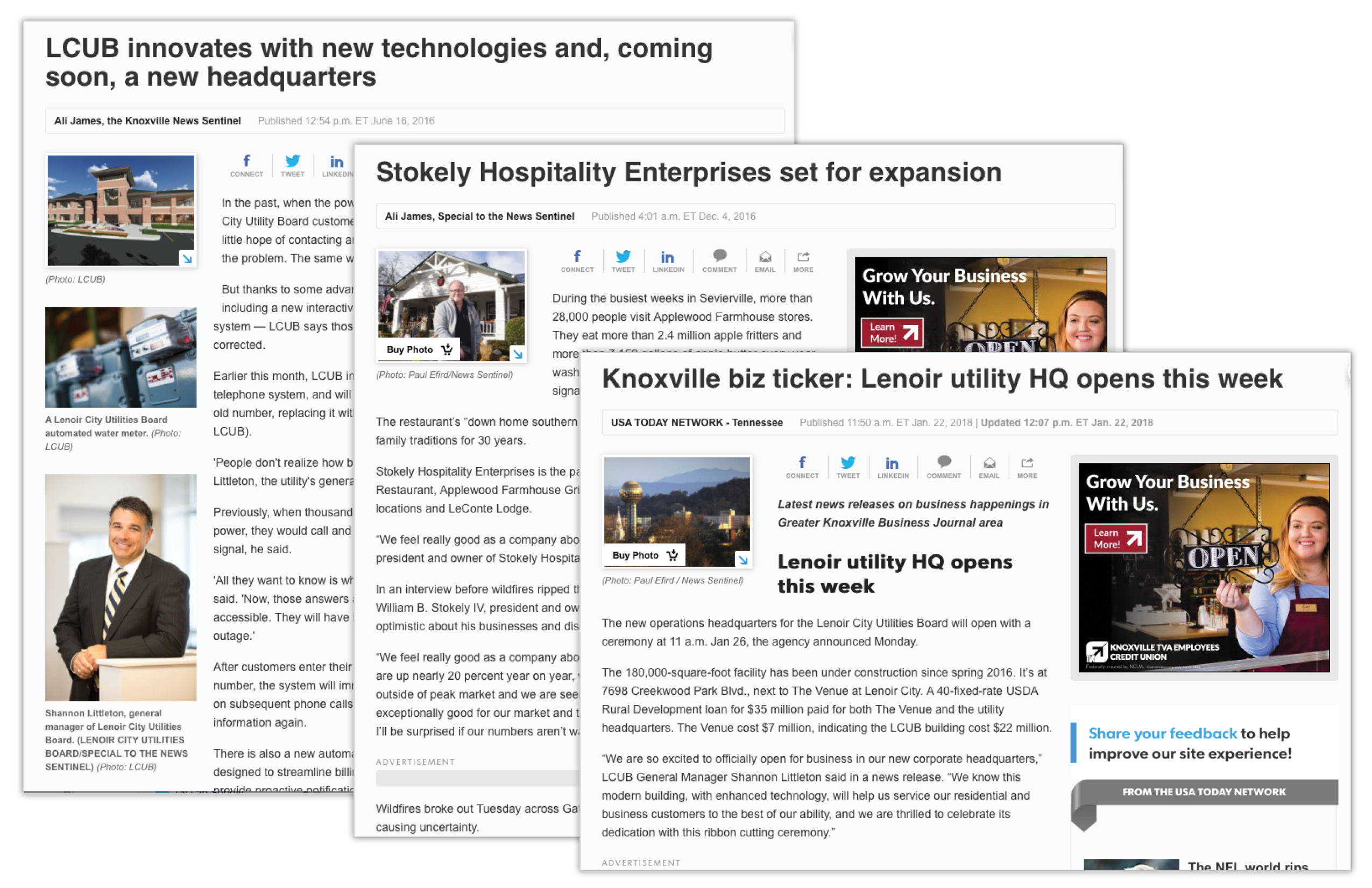 We can help gain exposure for your company through published articles when your business has information that the press finds valuable.