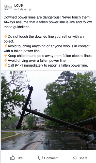 For a utility, the power of social media is in providing real-time alerts and updates for power outages.